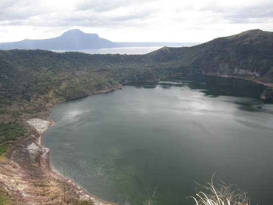 Taal Volcano:                   A look from the top at Taal
