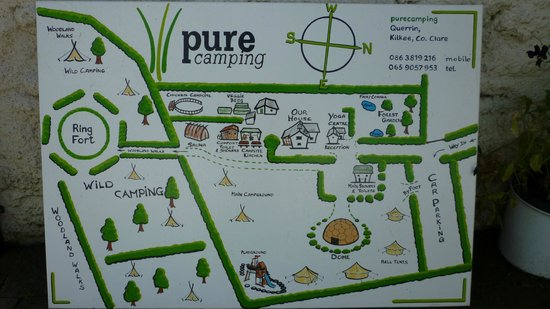Purecamping:                   Lageplan