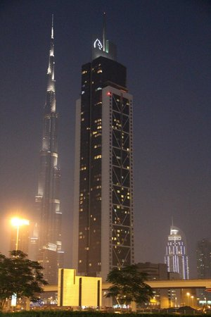 Villa Rotana - Dubai:                   view of Burj Khalifa, across the road