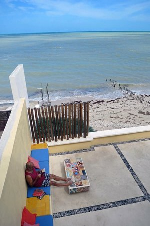 Flamingos Inn:                   A view from our room room