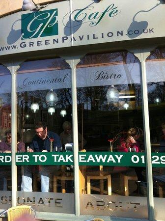 Cafe at The Green Pavilion:                   Green Pavilion Cafe