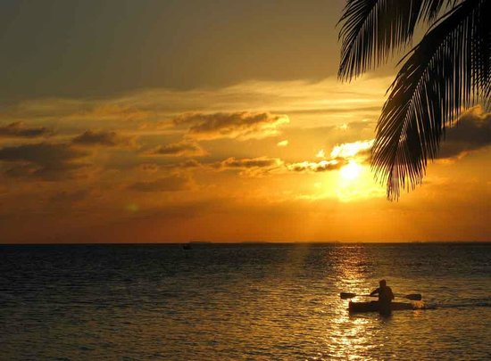 Pelican Beach - South Water Caye:                   Sunset