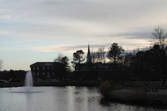 The Founders Inn and Spa:                   View at dusk