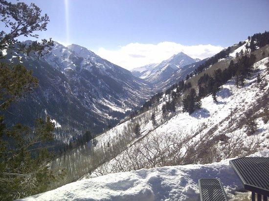 Buttermilk Mountain:                   la vista de arriba
