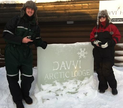 Davvi Arctic Lodge:                                     enterance to hotel