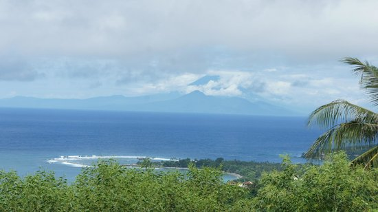 The Puncak:                   Daytime view out to the volcano