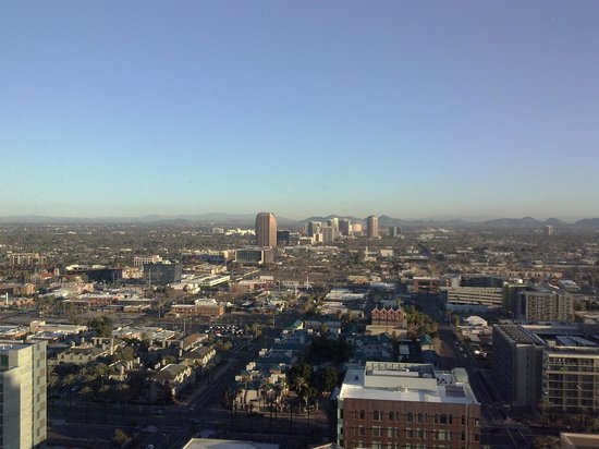 Sheraton Grand Phoenix:                   The view from my 25th floor room.