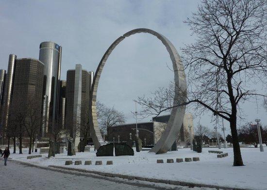 "Labor Legacy Landmark ""Transcending ~ Hart Plaza, Detroit Michigan"