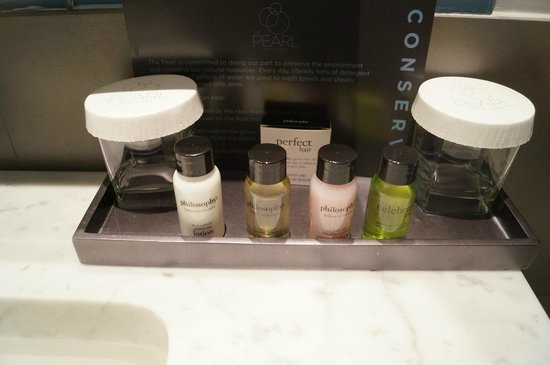 The Pearl Hotel :                                     Free toiletries in the bathroom! :)