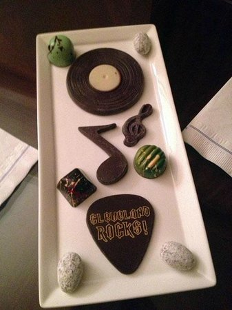 The Ritz-Carlton, Cleveland:                   Chocolates in-room as part of our Rock and Roll Hall of Fame package