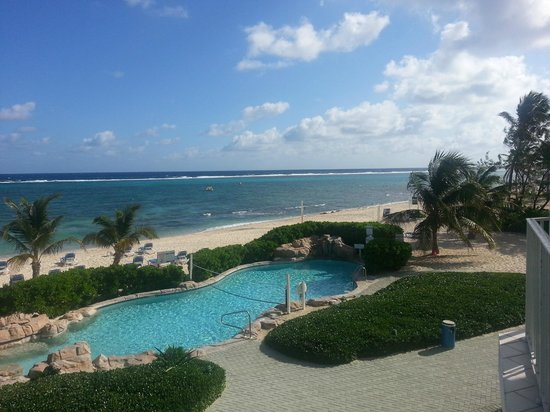 Wyndham Reef Resort:                   View from the room - 2nd story