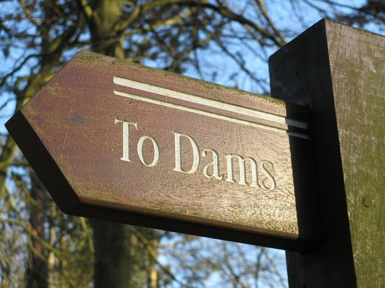 Derwent Dam:                   Sign