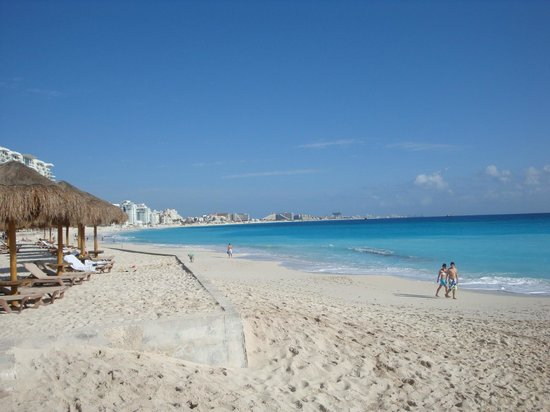 The Westin Resort & Spa Cancun:                   The Hotel Zone beach from Westin