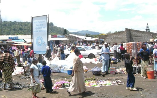 Arusha Village Experience:                                     Bezoek aan de markt in Tengeru