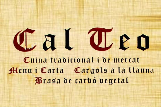 Cal Teo: cartel