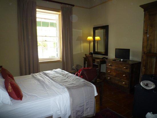 De Doornkraal Historic Country House Boutique Hotel:                   bedroom near the restaurant