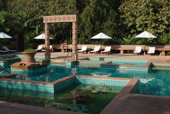 Le Meridien Angkor:                   The pool area