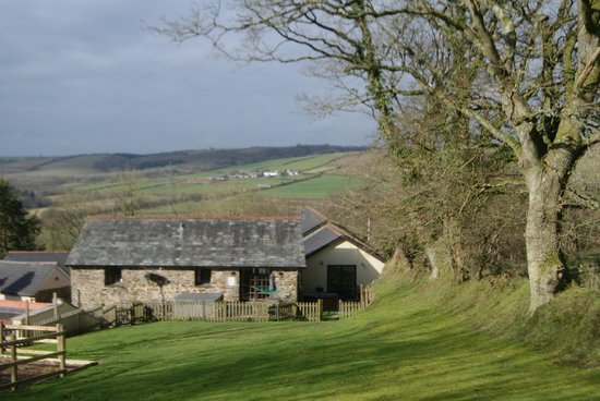 North Hayne Farm Cottages:                   View from play area behind Peter Rabbit Cottage
