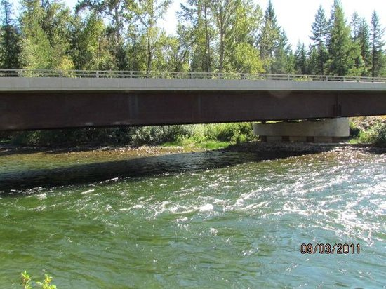 Cottonwood Cove RV Resort:                   Adams River bridge