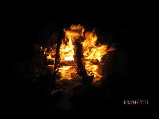 Cottonwood Family Campground:                   Campfire relaxing