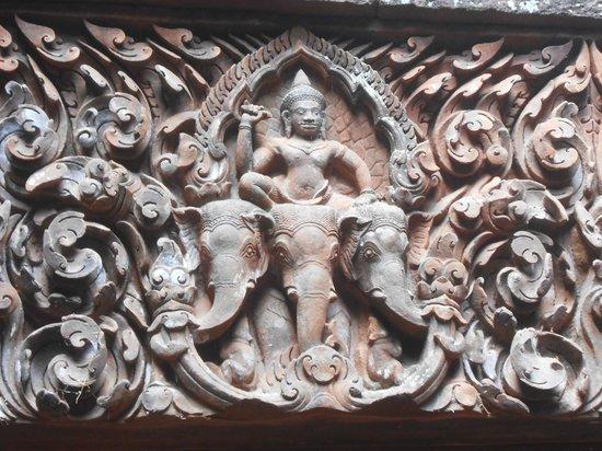 Vat Phou complex Temple - World Heritage:                   Détail