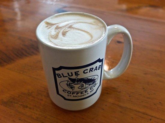 The Blue Crab:                   Wonderful latte