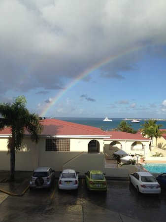 Simpson Bay Beach Resort & Marina:                   From our building