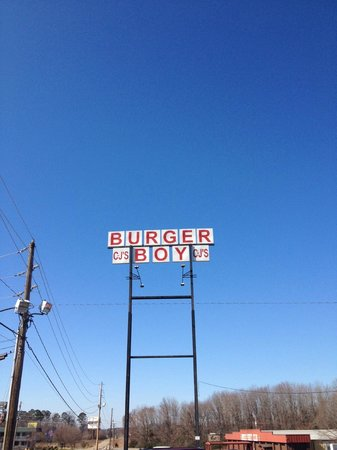 C-Js Butcher Boy Burgers:                   What you see along I-40 in Russellville, AR