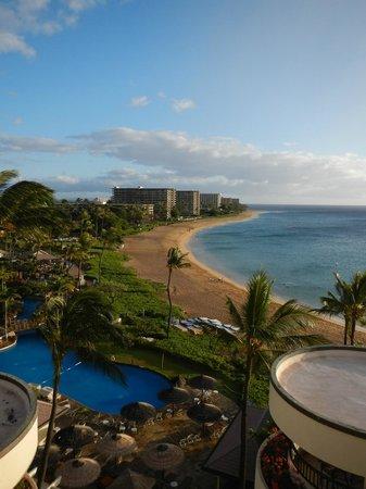 Sheraton Maui Resort & Spa:                                     View of Kaanapali Beach from the Sheraton