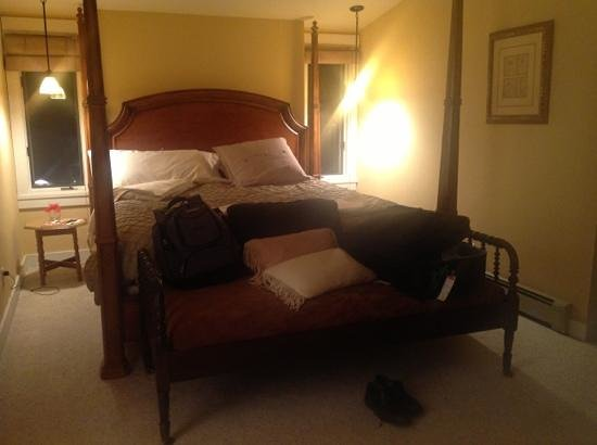 The Inn at Ellsworth Estate:                   This was my room, the bed was extremely comfortable.