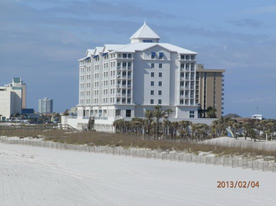 Margaritaville Beach Hotel:                   Hotel from the pier