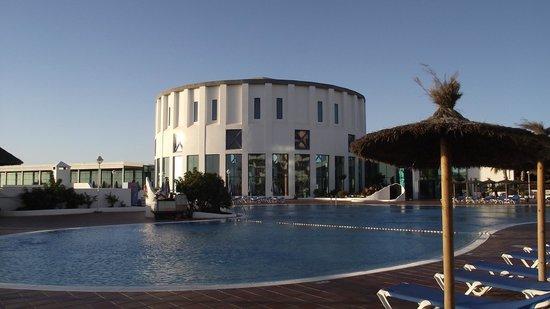 Sandos Papagayo Beach Resort:                   Pool area  and entrance foyer.