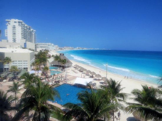 The Westin Resort & Spa Cancun:                   View from our hotel room