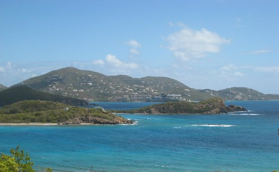 Virgin Islands Campground :                   The view from the deck of the suite