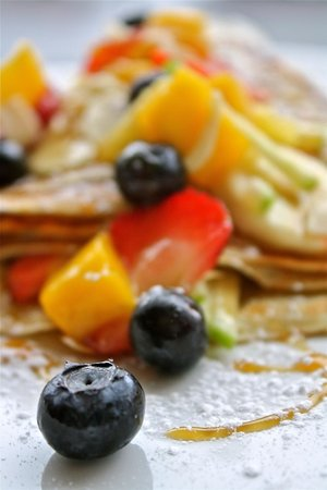 Geneva Crepe Cafe & Bistro: Fresh fruits Crepe