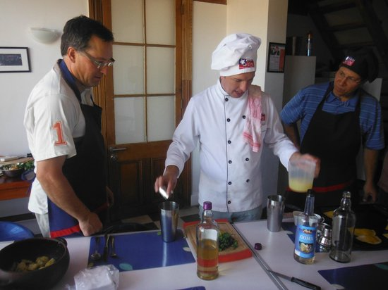 Chilean Cuisine Cooking Classes:                   Boris demonstrates the art of the pisco sour