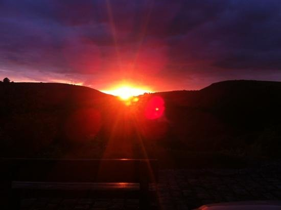The House-Next-the Trail:                   sunset at Monsal Head
