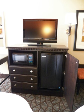 Hampton Inn Asheville - Tunnel Road:                   each room comes with large tv,microwave and fridge