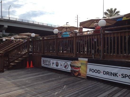 Duffy's Sports Grill:                   pool on the terrace overlooking Intercoastal
