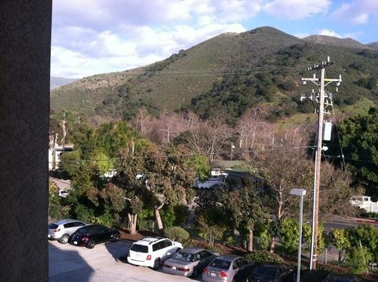 La Cuesta Inn:                   view from a window in front facing third story room