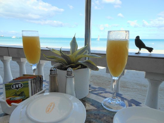 Sandals Grande Antigua Resort & Spa:                   Great view while enjoying some breakfast at Bayside