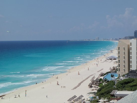ME Cancun:                   view from our balcony