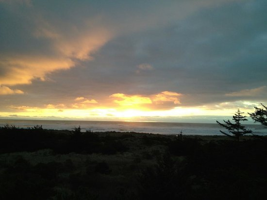 Ireland's Rustic Lodges:                   Sunset from the deck