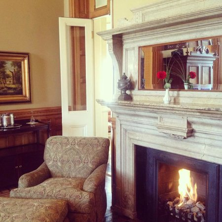 Wentworth Mansion:                   Suite 9 Fire Place