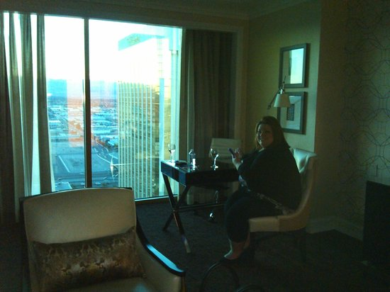 Four Seasons Hotel Las Vegas:                   A nice view from the living room
