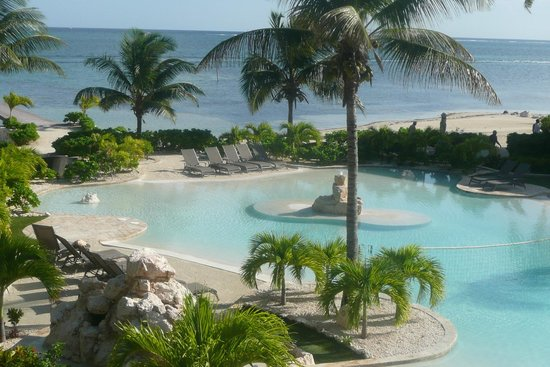 Coco Beach Resort:                   View of pool & Caribbean from our condo