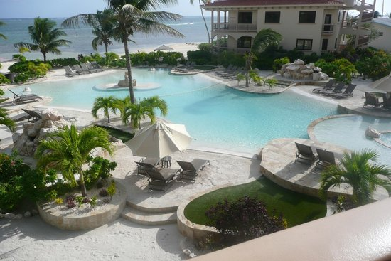 Coco Beach Resort:                   View of pool from our condo