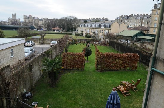 Number 17 Bath:                   Number 17's back garden