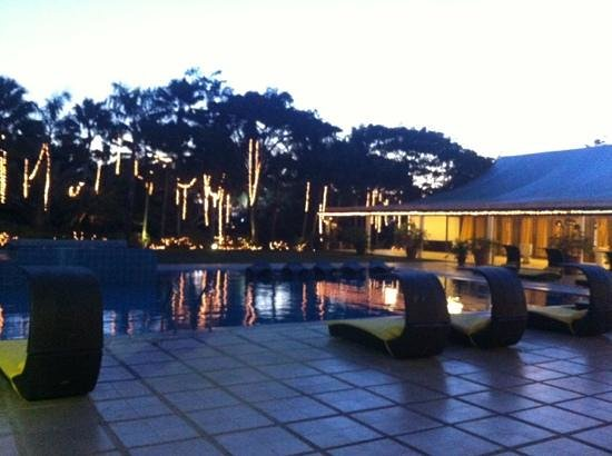 Pontefino Hotel & Residences:                   pool at night