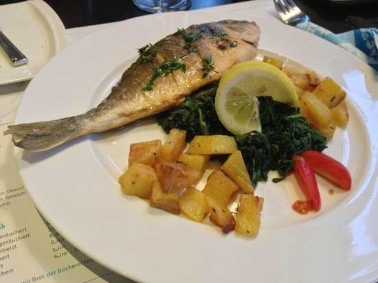 Cafe de Bretagne:                   Presentation is rather simple, but the fish was very well prepared.